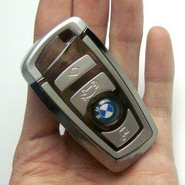 203寶馬車鑰匙全金屬充電打火機 無聲 USB電子點煙器正品