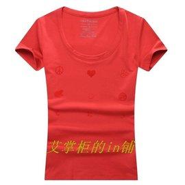 2014 CK專櫃春裝 正品 女士純棉圓領短袖T恤 彈性修身情侶t恤846U