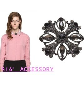916  Accessory春款  寶石胸針胸花襯衣領花女配飾品潮搭