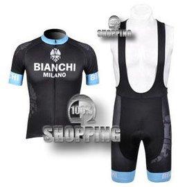 ~綠色 ~  比安奇BIANCHI 12黑 自行車服 腳踏車服 車衣車褲背帶 短套裝