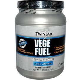 Twinlab 素食 非轉基因大豆 分離蛋白 沖泡粉 原味:1.18 lbs ^(535
