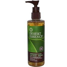 Desert Essence 沙漠精華 徹底臉部清潔洗面乳 ~ 原味, 油性和混合性皮膚: