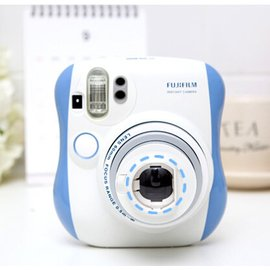 Kelly想拍就拍 富士拍立得相機 mini25相機白藍套餐 迷你25