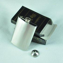 男士隨身便攜10盎司酒壺不鏽鋼附小漏鬥 套裝饋贈佳品 144g