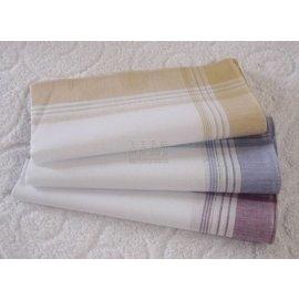 出口歐洲 全棉緞條男士女士手帕 汗巾 方巾 手絹 三色 銷售