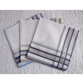 出口歐洲 全棉緞條男士手帕 手絹 手巾 汗巾 方巾