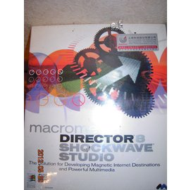 Macromedia Director 8 Shockwave Studio整套未開封