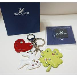 SWAROVSKI 施華洛世奇水鑽  幸運草愛心和平鴿子鑰匙圈1047578↗小夫妻 ↖