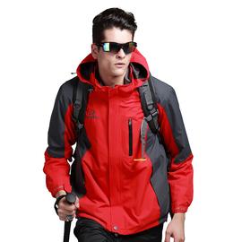 遊沐戶外衝鋒衣男正品兩件套含抓絨內膽三合一登山服防風防水保暖