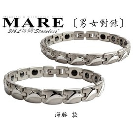 ~MARE316L白鋼~:男女對鍊~ 海豚~亮 款