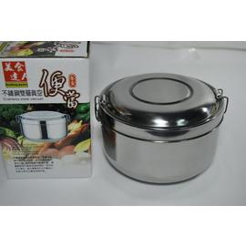 通路_5折 _SG839~W74 不鏽鋼雙層保溫隔熱餐盒^(附菜盤^)_直徑14^~9CM