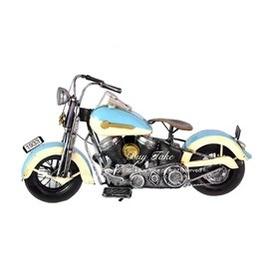 Buy Take 藍色打檔摩托車 老仿古中型復古鐵製懷舊哈雷嬉皮童玩重機擺飾模型店面裝飾