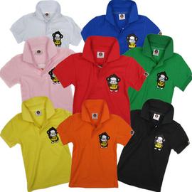 3件包郵男童女童中大兒 夏裝純色翻領全棉短袖T恤POLO演出衫