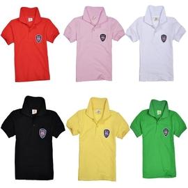2014 夏裝男童女童兒童純棉英倫翻領短袖T恤POLO衫演出服