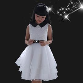 小學生青少年2014  女童連衣裙 短袖兒童裙子公主裙