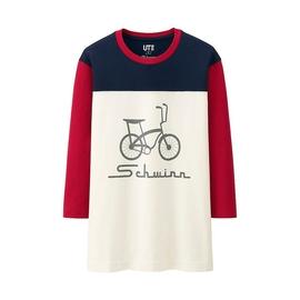 男裝 ^(UT^) SCHWINN印花T恤^(七分袖^) 136088 優衣庫UNIQLO