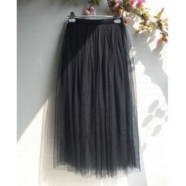 錦衣自制 韓國韓範 網紗裙仙女半身裙子長紗裙蓬蓬長裙半裙