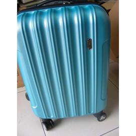 20吋硬殼旅行箱ABS行李箱 REBACCA藍色拉桿箱旅行包包登機箱行李袋~全藍色附鎖 划