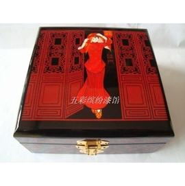木質平遙漆器過門首飾盒珠寶盒收納盒木制結婚女 包郵