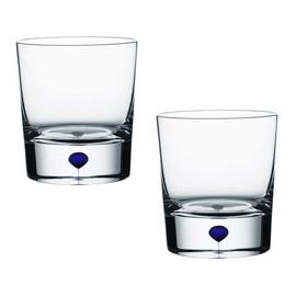 正品 Orrefors歐瑞詩 藍色間奏曲 威士忌酒杯 一對