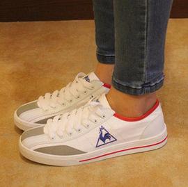 2014 法國公雞男鞋女鞋 鞋樂卡克情侶鞋帆布 鞋阿甘板鞋