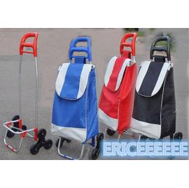 六輪買菜籃車 籃 袋 拉桿買菜車 輕鬆爬梯車 三輪 車 可爬樓梯 折疊手推車
