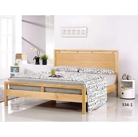 ^~ 展利 館 ^~ 挪威5尺本色柚木色雙人床架.床頭櫃hu4125 ^(床架^)∼334
