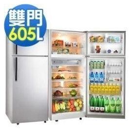 ~高屏、台南~~大高雄~健中 行~~東元TECO、605公升雙門變頻冰箱、R6110K^(