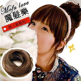 韓國丸子頭 甜甜圈髮束 韓系假髮包包頭! 增髮接髮 包子頭~E五色~ 髮片