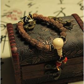 天然金剛菩提佛珠手鏈 藏式天珠尼泊爾金剛手串 男女 手飾