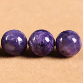 diy 飾品材料 純天然紫龍晶散珠單顆串珠 手鏈手串女款