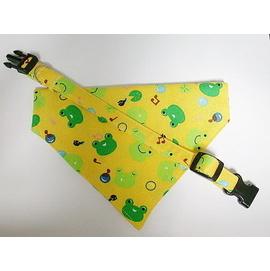 ~雅適 ~ 製作貓狗領巾項圈中型犬、大型犬:快樂小青蛙領巾^~共五色