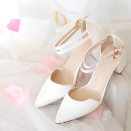 小碼涼鞋31尖頭32高跟33復古大碼女鞋40~43OL優雅粗跟鞋