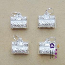 99純銀 百家寶鎖 紅繩飾品銀飾 編織手鏈腳鏈材料