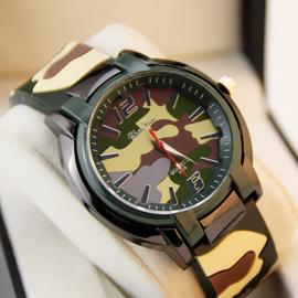 时尚潮人男女中性表   胶运动登山腕表迷彩图案手表 学生表军表