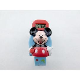 米老鼠電子表時可愛卡通橡膠酒桶型數字玩具學生男女孩兒童手表