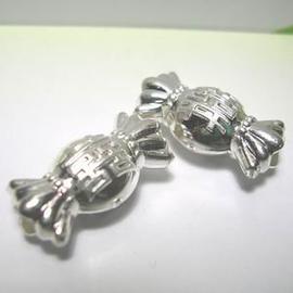 琥珀貓~925純銀材料~ 珠~N9626~喜糖~一個