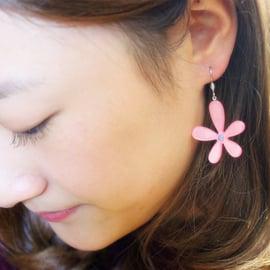 韓國 飾品 耳釘 花朵耳環花朵 高端亞克力耳環 花型耳勾