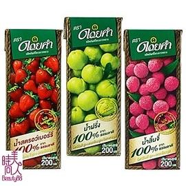 ~泰國皇家農場~100^%鮮果汁~200mlx12入^(草莓 荔枝 芭樂^)可