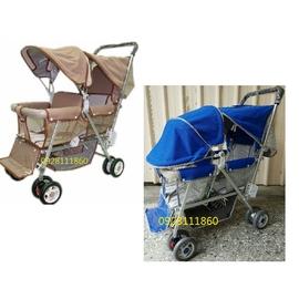 雙人推車嬰兒手推車鋁管雙胞胎推車兩人推車雙座位雙人嬰兒推車^(奇哥欣康combichicc