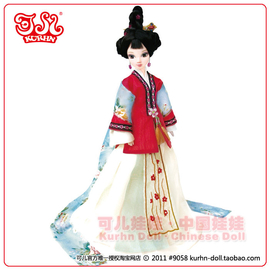 新品包郵 中國芭比可兒娃娃9058詠梅 可兒詠系列 白肌關節體^~ 款式^~無