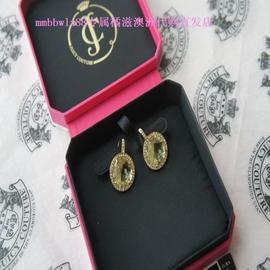 澳洲 Juicy Couture專櫃正品 黃水晶圈鑽耳環 附小票
