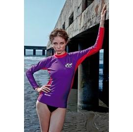 ~~魔力游泳用品館~~Marium女生半身水母衣^(自行車及單車 長袖防曬衣^)防磨衣^~