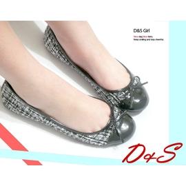 D&S 大璇小璇 ~兩款~ 臺灣製 198 雙色36~40 精緻毛呢拼接蝴蝶結包鞋 NO.