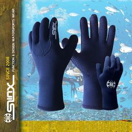 潛水手套 防水男女加厚備浮潛手套防滑保暖防刮不進水
