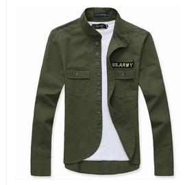 2014春裝 軍裝外套男裝潮流立領開衫夾克男 修身春秋薄外套