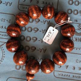 蛇紋木中鑽石滿豹紋 極品工藝佛珠 手串手鏈 海黃花梨紋一物一拍