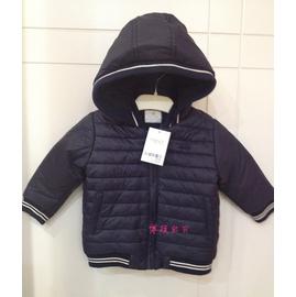 英國大牌正品Next外貿原單小男童嬰兒寶寶海軍服加絨連帽棉衣外套