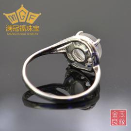 新品 周六福925銀鑲水沫玉戒指 緬甸石英岩玉 送老婆 送女友包郵