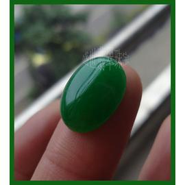 天然緬甸翡翠玉戒面蛋面橢圓形裸石滿綠帝王綠玉戒指鑲嵌男女戒指